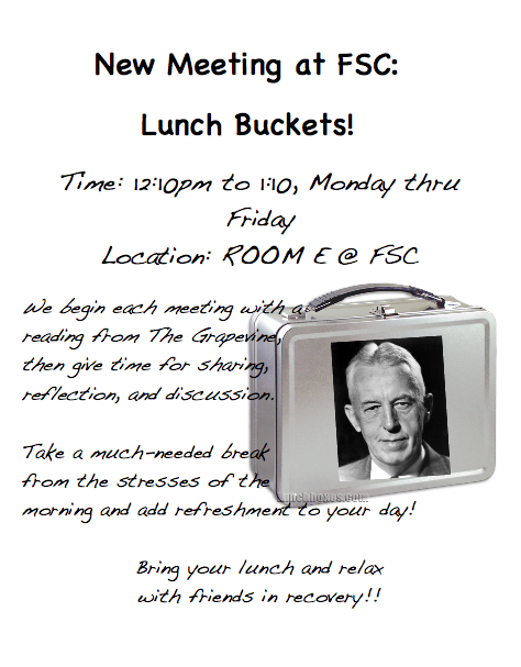 Lunch Buckets AA Meeting