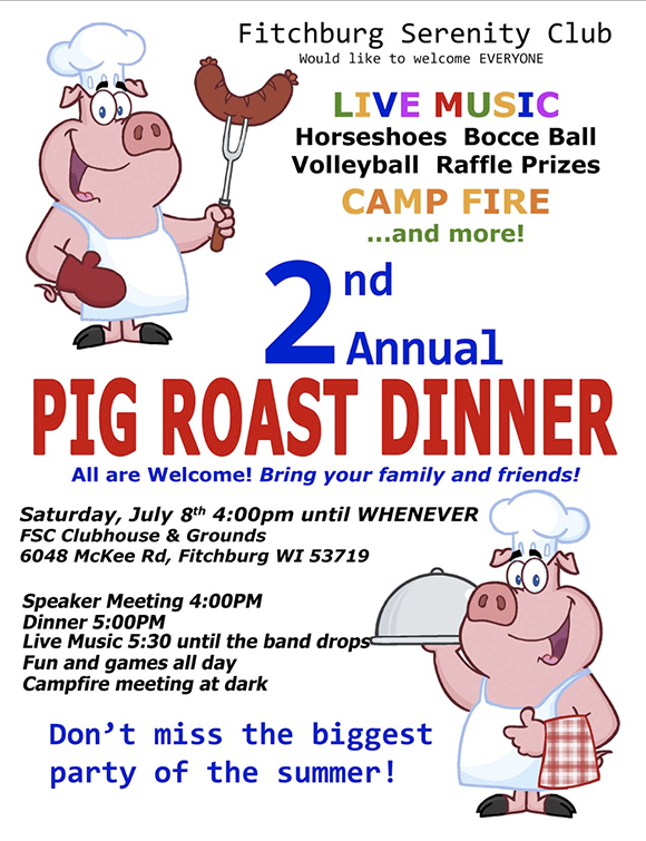 2nd Annual Pig Roast Dinner at FSC