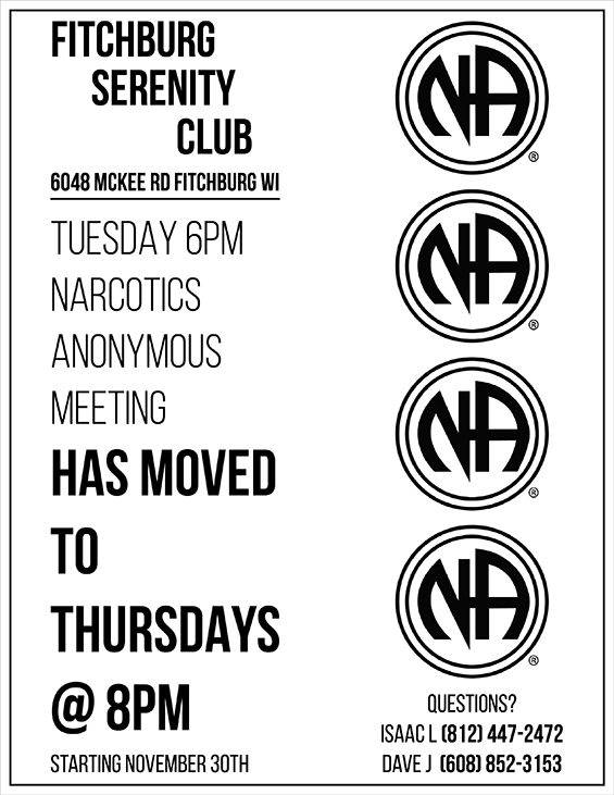 Narcotics Anonymous Meeting at FSC