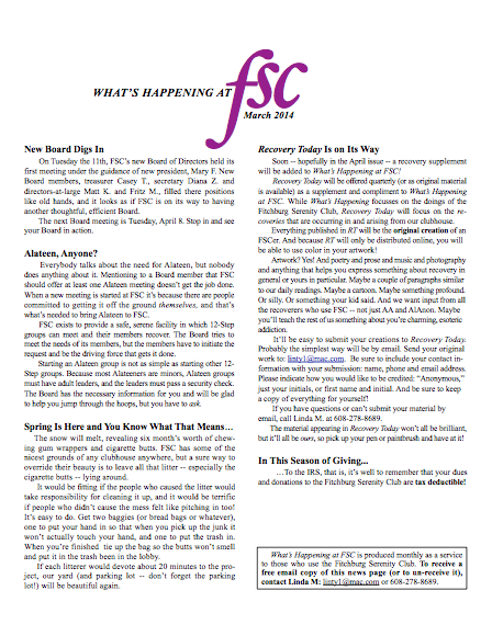 FSC March Newsletter