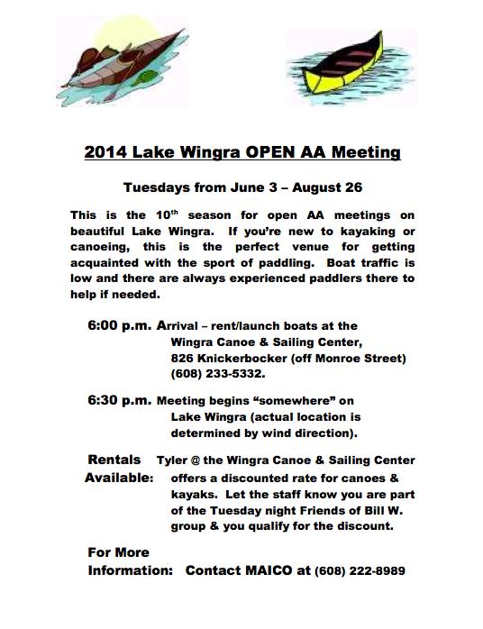 Lake Wingra AA Mtg