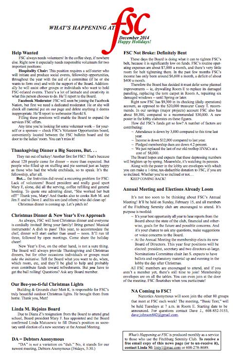 FSC Newsletter