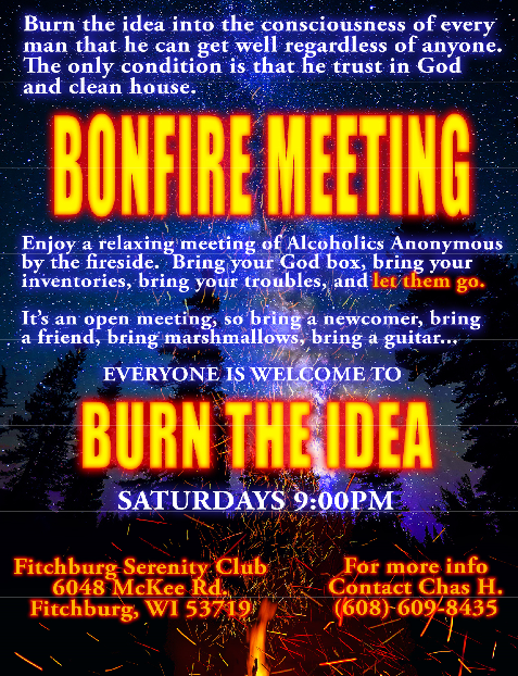 Bonfire AA Meetings at Fitchburg Serentiy Club