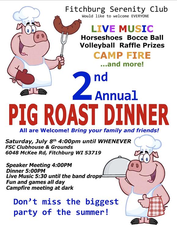 2nd Annual Pig Roast Dinner at FSC